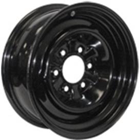15X6 Trailer Wheel Conventional 5H-4.5 Black 2.62P