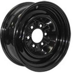 15X6 Trailer Wheel Conventional 6H-5.5 Black 3.65P