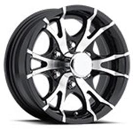 15X6 6H T07V-Trailer Wheel Spoke 6 Black