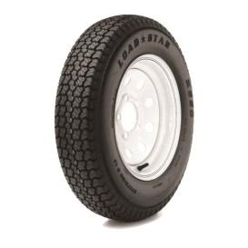 185/80D13 Tire C/5H Trailer Wheel Spoke White Striped