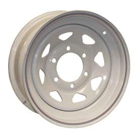 15X5 Trailer Wheel Spoke 5H-5.0 White Striped