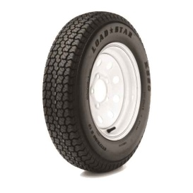 225/75D Tire15 D/5H Trailer Wheel Spoke White Striped