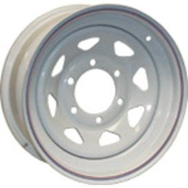 16X6 Trailer Wheel Spoke 6 White