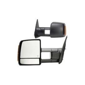 1 Pair Foldaway Mirrors - Black