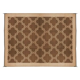 Buy Camco 42877 Large Reversible Outdoor Patio Mat 6' x 9', Brown Lattice