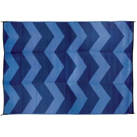 Buy Camco 42878 Large Reversible Outdoor Patio Mat 6' x 9', Blue Chevron