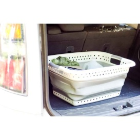 Buy Camco 51903 Collapsible Utility Laundry Basket White/Gray, Large -