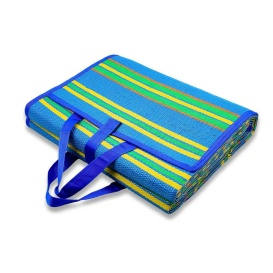 """Buy Camco 42814 Handy Mat with Stra Blue/Green - 72"""" x 108"""" - Camping and"""