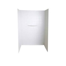 White 24X40X62 1-Pc Tile Tub Surround