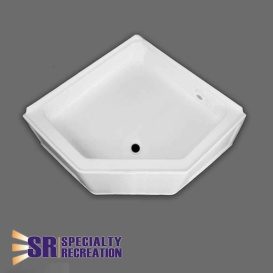Neo Shower Base 27X27 Front Center Drain