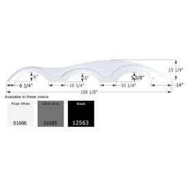 Buy Icon 01685 Keystone Triple Axle FS1000 LH - Olive Gray - Fenders