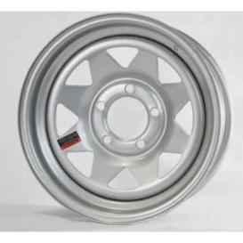 15X5 Spoke Wheel 5X4.5 Silver