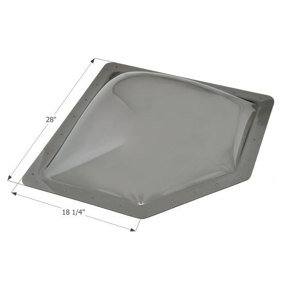 Buy Icon 12144 RV Skylight NSL2414 - Smoke - Skylights Online RV Part Shop