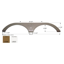 Buy Icon 12586 Heartland Tandem FS2586 - Taupe - Fenders Online|RV Part