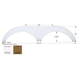 Buy Icon 12713 Forest River Tandem FS2713 - Polar White - Fenders