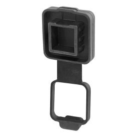 """Buy Curt Manufacturing 21728 2"""" Rubber Hitch Tube Cover with 4-Way Flat"""