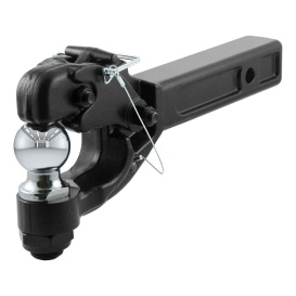 """Buy Curt Manufacturing 48007 Receiver-Mount Ball & Pintle Combo (2"""" Shank"""