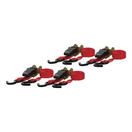 Buy Curt Manufacturing 83002 16' Red Cargo Straps with S-Hooks (500 lbs.