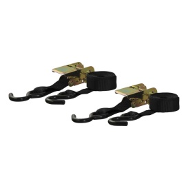 Buy Curt Manufacturing 83009 10' Black Cargo Straps with S-Hooks (500