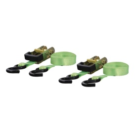 Buy Curt Manufacturing 83028 16' Lime Green Cargo Straps with S-Hooks