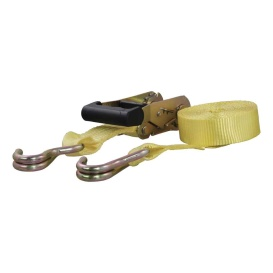 Buy Curt Manufacturing 83036 14' Yellow Cargo Strap with J-Hooks (1,667