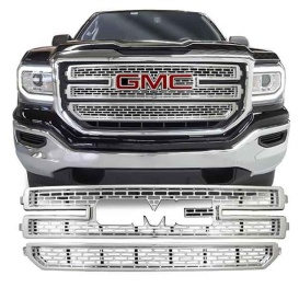 2PC CHROME CCI GRILLE OVERLAY