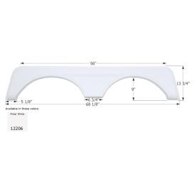 Buy Icon 12206 Carriage Tandem FS2206 - Polar White - Fenders Online RV