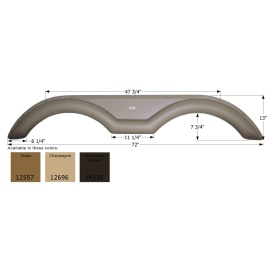 Buy Icon 12557 Sunnybrook Tandem FS2557 - Taupe - Fenders Online|RV Part