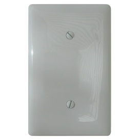 BLANK WALL PLATE - WHT