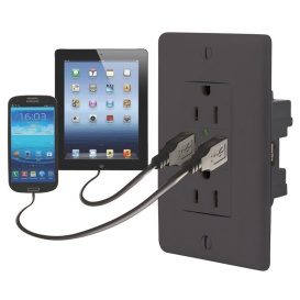 120V DOUBLE USB CHARGER D