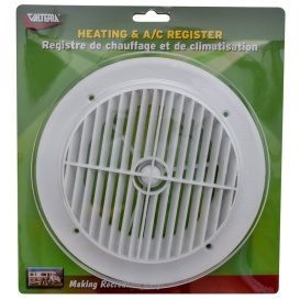"""Buy Valterra A103355VP AIR PORT LOUVERED 4"""" WH - Air Conditioners"""