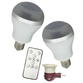 WHITE 2 PK BT SPEAKER BULB LED