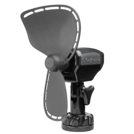 Ultimate 12V Lighter Plug Fan for Boats and Campers Black