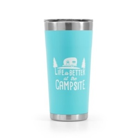 Buy Camco 53057 Life is Better at The Campsite Stainless Steel 20 oz.