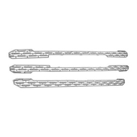 CCI Grille Overlay 3 Pc Chrome