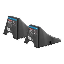 Buy Curt Manufacturing 22800 Black Plastic Camper RV Wheel Chocks for