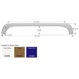 Buy Icon 01846 Fender Skirt for KZ-Tandem Axle, Polar White - Fenders