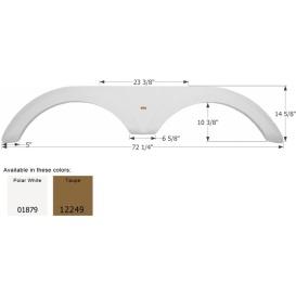 Buy Icon 01879 Fender Skirt for Jayco-Tandem Axle, Polar White - Fenders