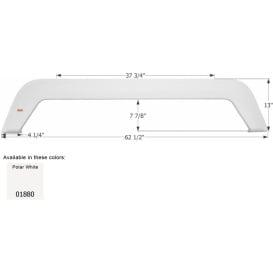 Buy Icon 01880 Tandem Axle Fender Skirt FS1880-Polar White - Fenders