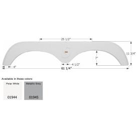 Buy Icon 01944 Fender Skirt for Forest River Surveyor-Tandem Axle, Polar