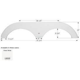 Buy Icon 12033 Fender Skirt for Forest River-Tandem Axle, Polar White -