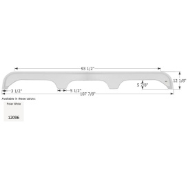 Buy Icon 12096 Fender Skirt, Triple, King of The Road, FS2096, PW -