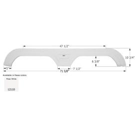 Buy Icon 12110 Fender Skirt, Tandem, Keystone, FS2110, Polar White -