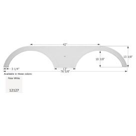 Buy Icon 12127 Fender Skirt for Heartland-Tandem Axle, Polar White -