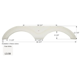 Buy Icon 12158 Fender Skirt, Tandem, Cruiser, FS2158, Polar White -