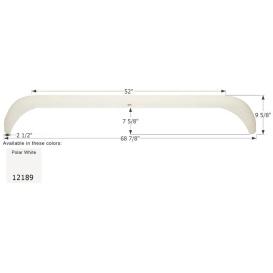 Buy Icon 12189 Fender Skirt for Layton Skyline-Tandem Axle, Polar White -