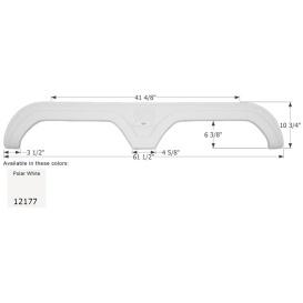 Buy Icon 12177 Fender Skirt for Thor-Tandem Axle, Polar White - Fenders