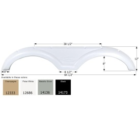 Buy Icon 14173 Fender Skirt for Gulf Stream-Tandem Axle, Black - Fenders