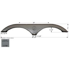 Buy Icon 12788 Fender Skirt for Evergreen-Tandem Axle, Midnight Metallic