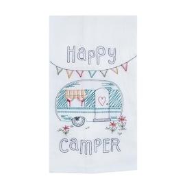 Buy Kay Dee Design R3011 Happy Camper Embroidered Flour Sack Towel -